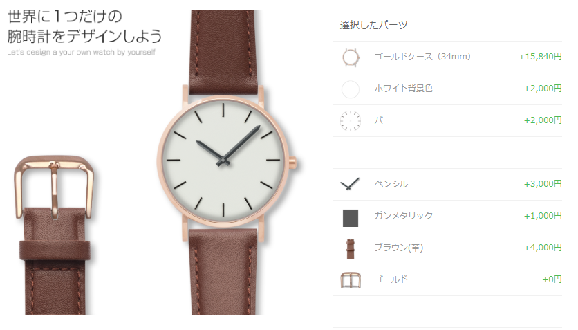 SLANT(スラント)カスタム腕時計